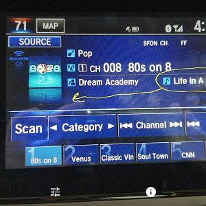 Sirius Screen Change