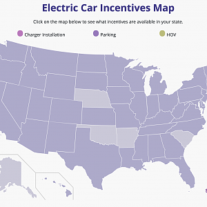 Electric Vehicle Incentives Map USA